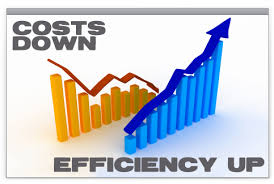 cost down efficiency up